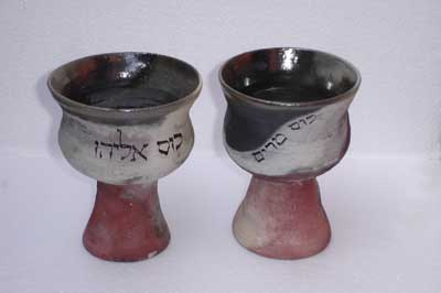 Miriam's cup and Elijah's cup set
